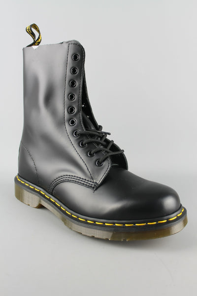 Dr Martens DM'S 1490 11857001 Mens Womens Black Smooth Leather 10 Eyelet Boots - 4 Seasons Store