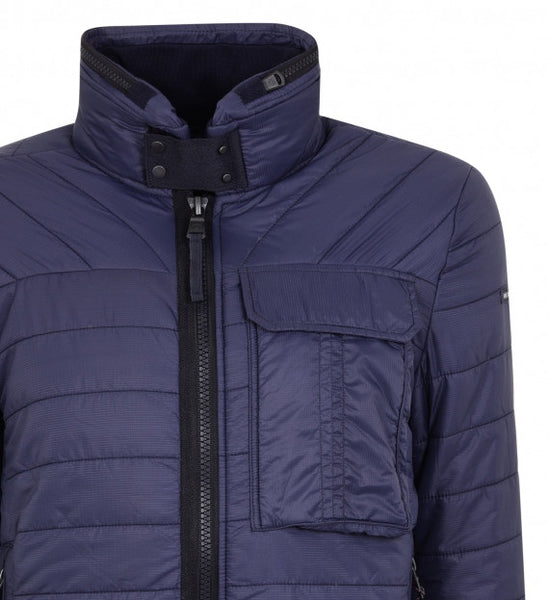 Duck & Cover DAC1K0009 Outland Mens Utility Quilted Jacket Coat Deep Navy Blue