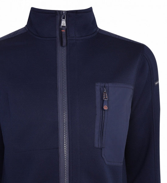 Duck & Cover DAC3H0040 Brixham Mens ZIP Through Active Jacket Deep Navy Blue