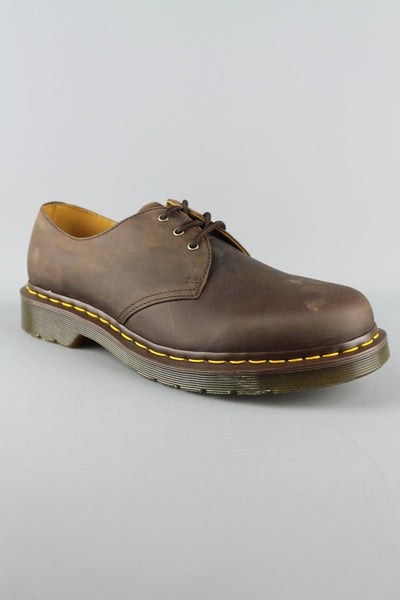 Dr Martens DM'S 1461 11838201 Gaucho Crazy Horse Brown Leather 3 Eyelet Shoes - 4 Seasons Store