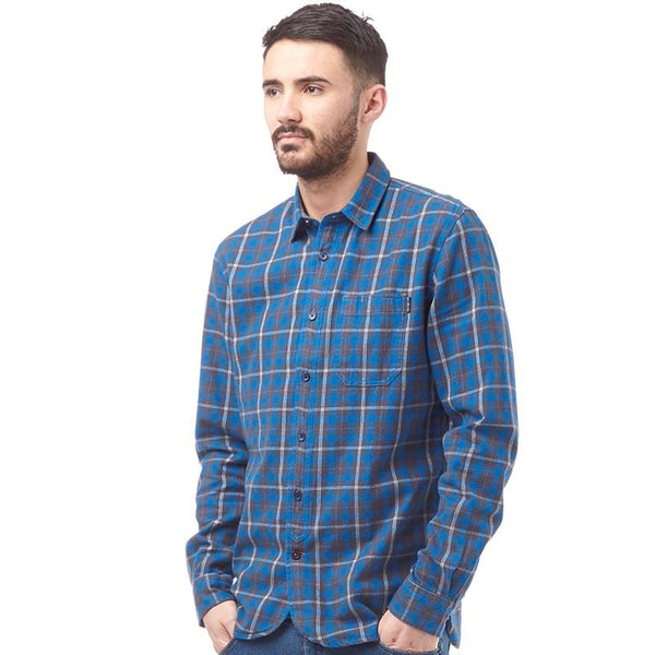 Duck & Cover DAC4C0100 Mens Padstow Long Sleeve Check Shirt Sapphire Blue