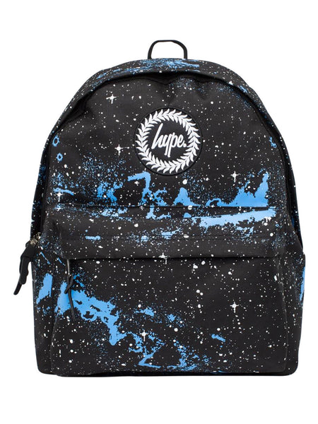 HYPE JUST HYPE SS1720022 UNIVERSE BLACK WHITE BLUE Backpack Rucksack Bag