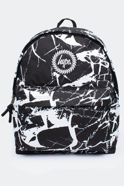 HYPE JUST HYPE SS1720025 BLACK MARBLE Backpack Rucksack Bag