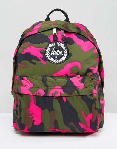 HYPE JUST HYPE SS1721002 VIDA CAMO GREEN Backpack Rucksack Bag