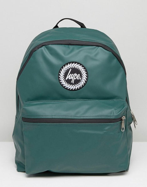 HYPE JUST HYPE SS1726020 RUBBERISED FOREST GREEN Backpack Rucksack Bag