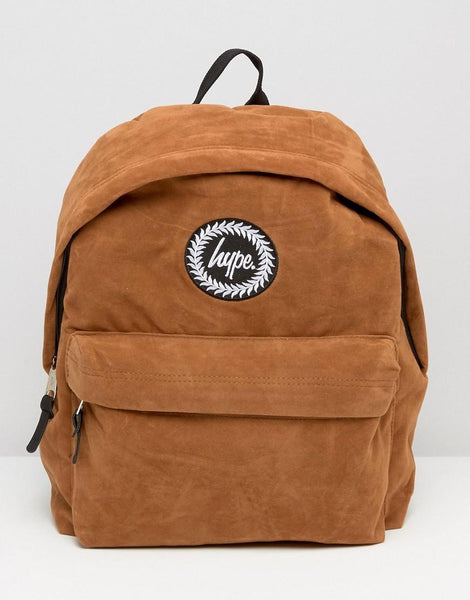 HYPE JUST HYPE SS1726032 SUEDE BROWN Backpack Rucksack Bag