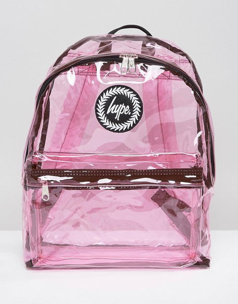 HYPE JUST HYPE SS1726029 TRANSPARENT PINK Backpack Rucksack Bag