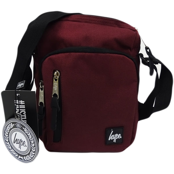 HYPE JUST HYPE SS1731002 CORE BURGUNDY RED ROADMAN MESSENGER/SHOULDER BAG