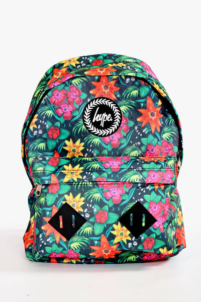 HYPE JUST HYPE Backpack Rucksack Bag Tropical Floral Multi