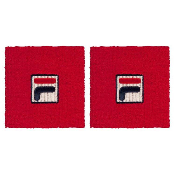 Fila Osten Two Pack Wrist Band Sweatband Chinese Red - 4 Seasons Store