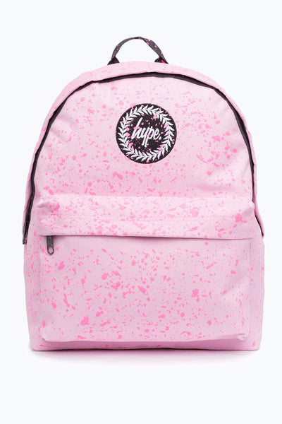 HYPE JUST HYPE BACKPACK RUCKSACK BAG BABY PINK WITH PINK SPECKLE BACKPACK SCHOOL BAG