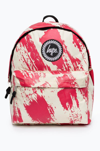 HYPE JUST HYPE Backpack Rucksack Bags Sand Red Brushed Backpack School Bag AW17360