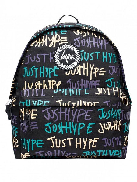 Hype Just Hype Backpack Rucksack Bags Multi Hand Style Backpack School Bag AW17367