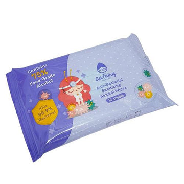 Au Fairy Anti-Bacterial Sanitizing Alcohol Wipes-Anti Bacterial Wipes-UNIQSO