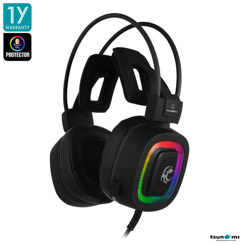 Tsunami GE-06 Protector 7.1 Virtual Sound Gaming Headset with Software Black