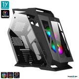 Tsunami Protector Goliath KK (Protector Sound Sync) Tempered Glass ATX Mutant Gaming Computer Case with Ablaze+ (Aura)*2