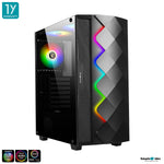 Tsunami ARGB 3601K Tempered Glasss 5V+ ARGB Ready (AURA/FusionRGB/Polychrome/MysticLight) ATX Gaming Case