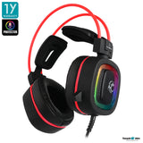 Tsunami GE-06 Protector 7.1 Virtual Sound Gaming Headset with Software Red