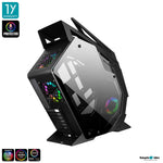 Tsunami Protector Beast KK ARGB Sound Sync Tempered Glass Mutant ATX Gaming Case + Protector 1262 12CM ARGB Cooling Fan x 3pcs