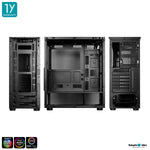 Tsunami E-Sport D10 ARGB Tempered Glass ARGB Gaming Case (Ablaze ARGB Fan*6)