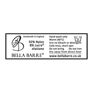 Lace Washing Label for Bella Barre's Adult Ballet, Dance & Fitness Wear