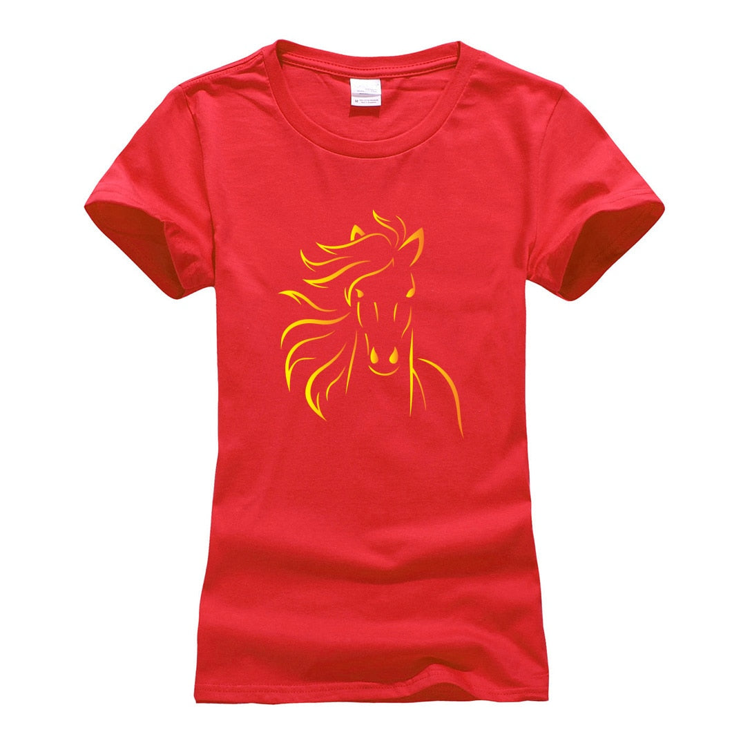 Cute Horse Fitness T Shirt