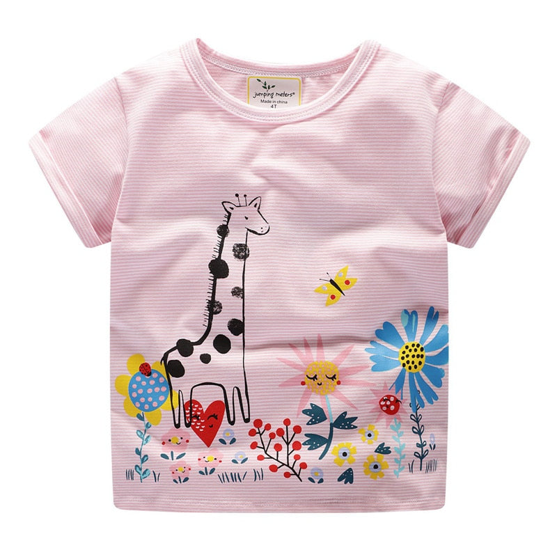 Jumping Girls Horse Tee