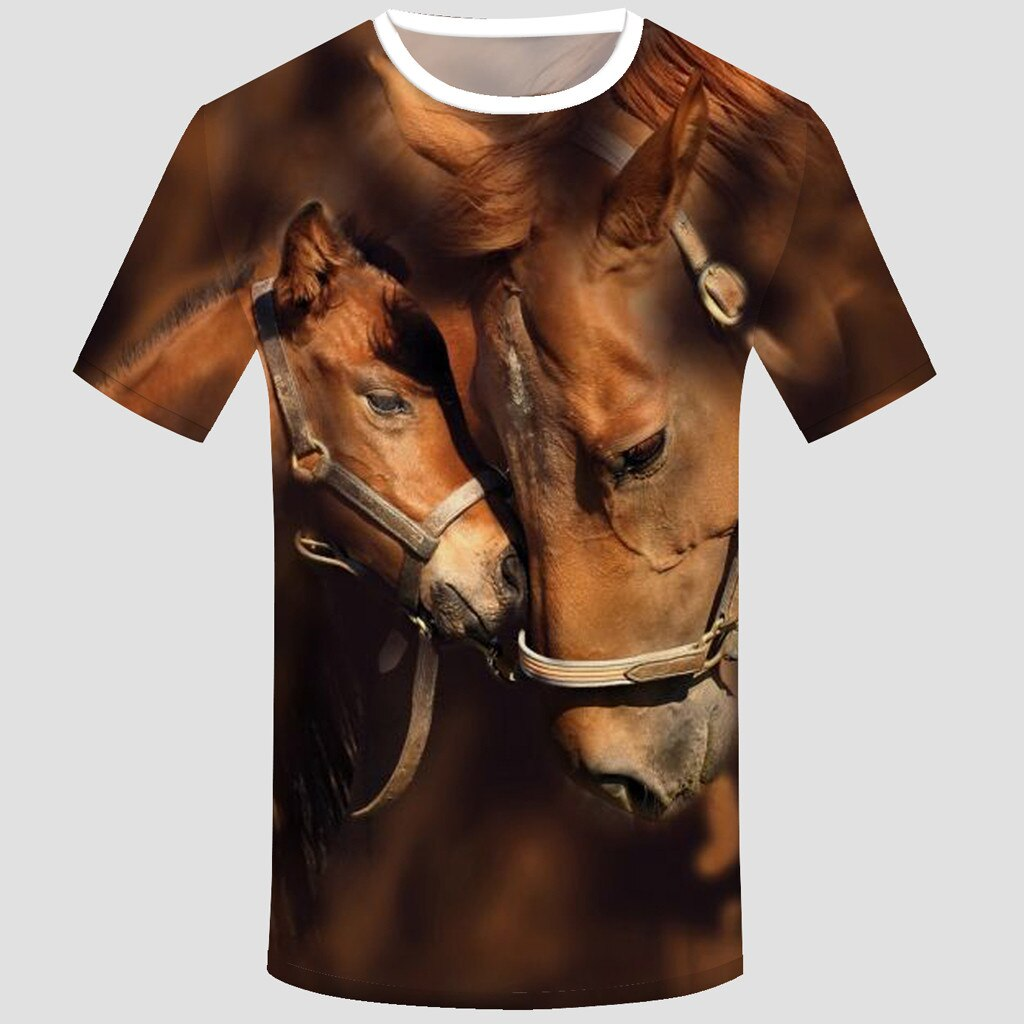 3D Real Horse Tee