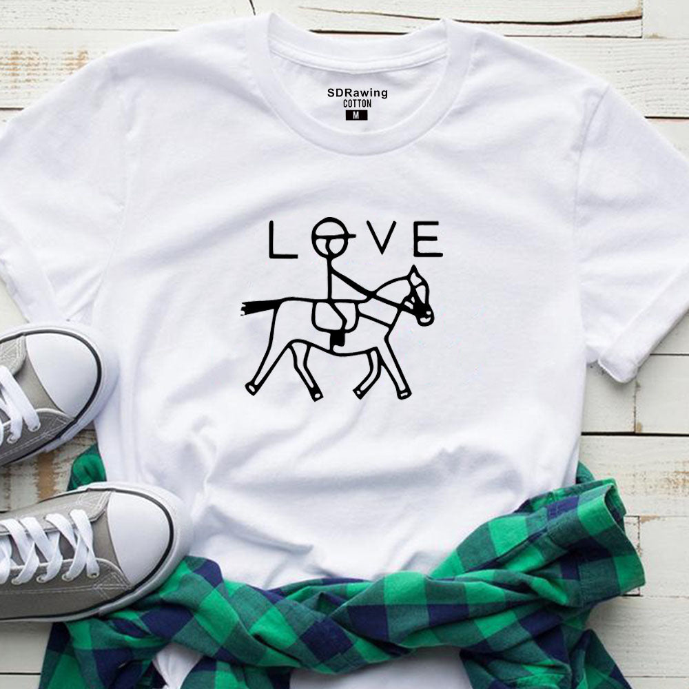 Funny Horse Riding Tee