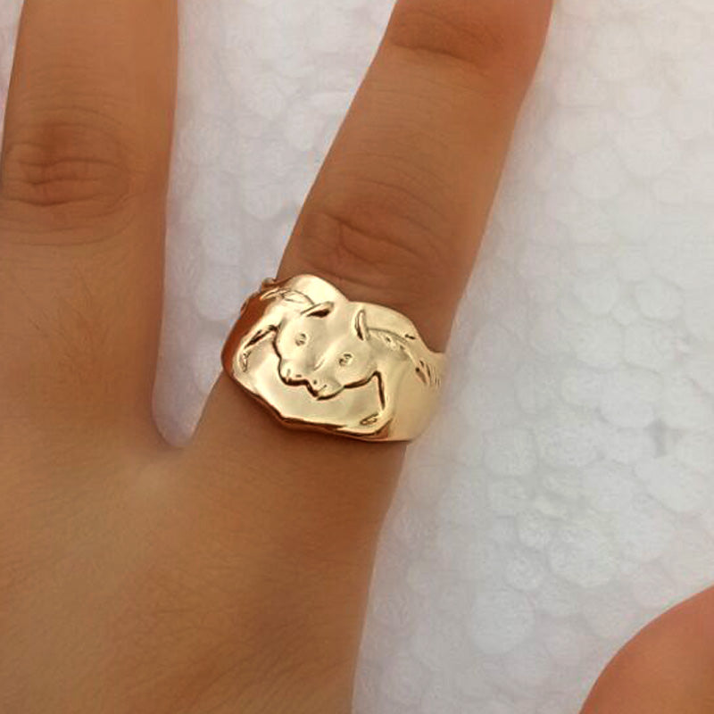 Two Love Horse Ring