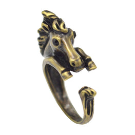 Horse Head Wrap Around Ring