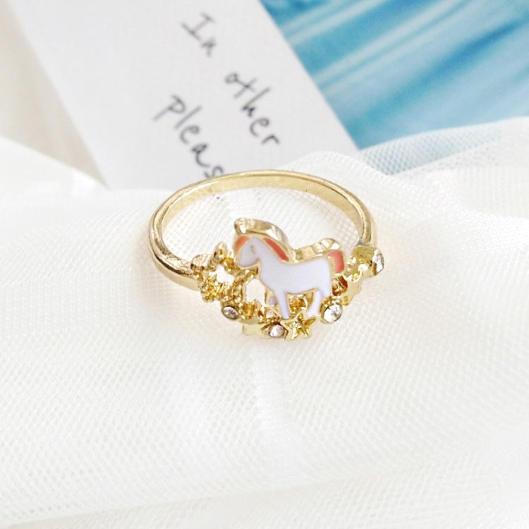 Adorable Little Unicorn Ring