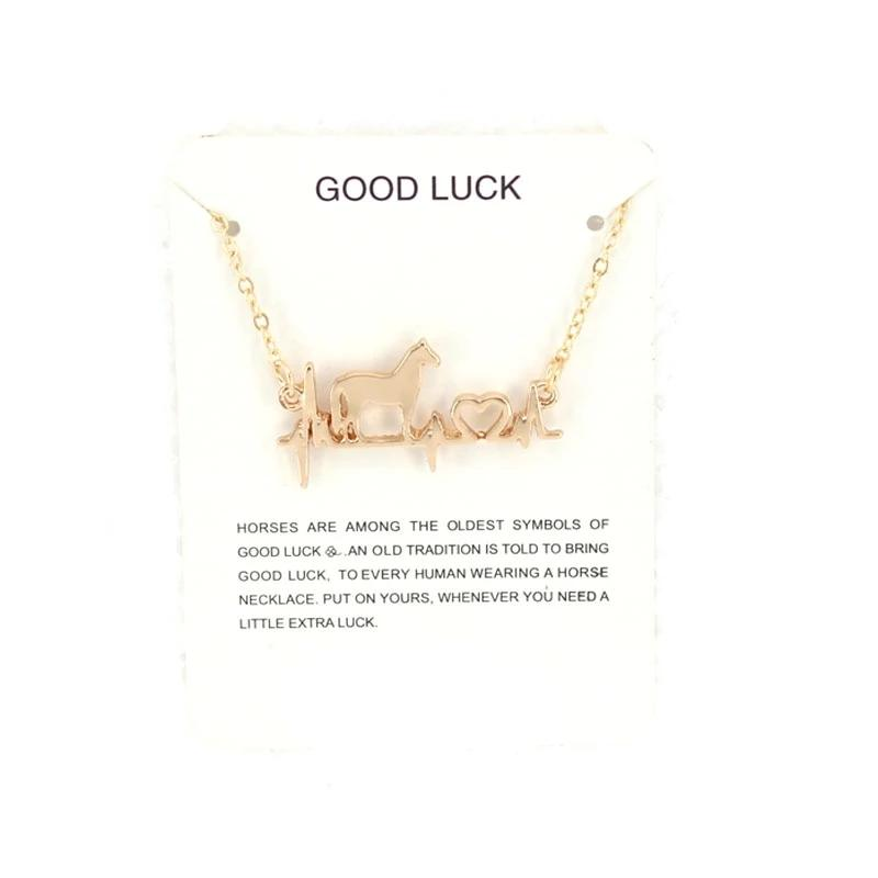Cute ECG Horse Necklace