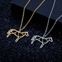 Unique Origami Horse Necklace
