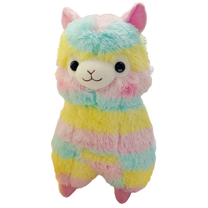 20cm Soft Rainbow Alpaca Plush Toy