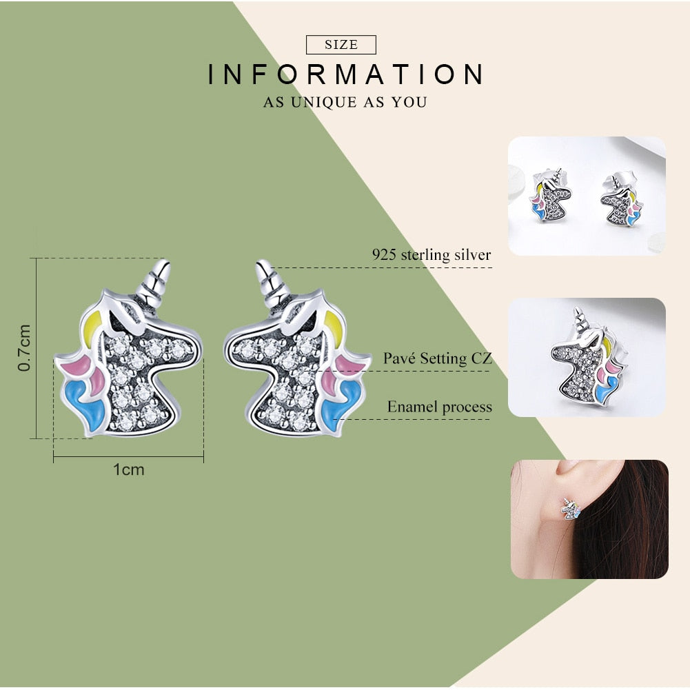 Sterling Silver Dazzling Memory Stud Earrings