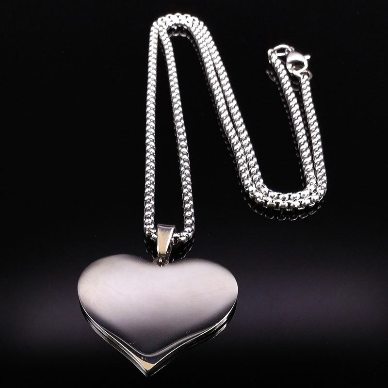 Steel Horse Heartbeat Necklace