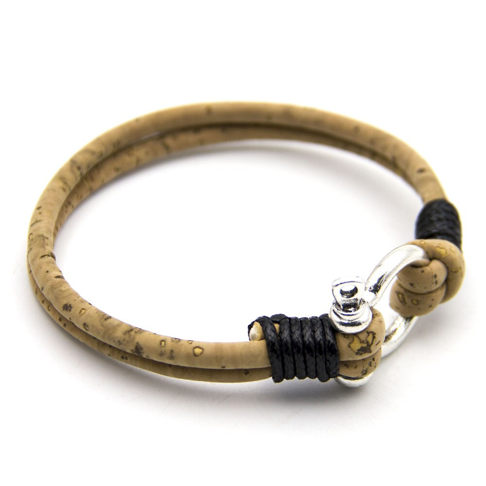 Natural Cork Horseshoe Bracelet