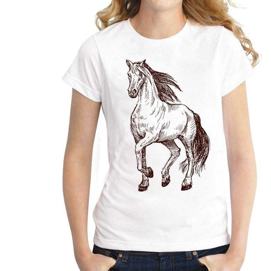 Cute Summer Horse T Shirt