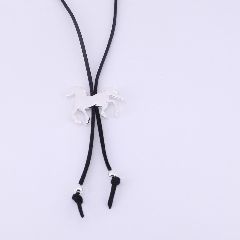 Cute Velvet Running Horse Necklace