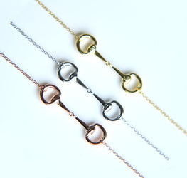 Polished Snaffle Bit Equitation Necklace
