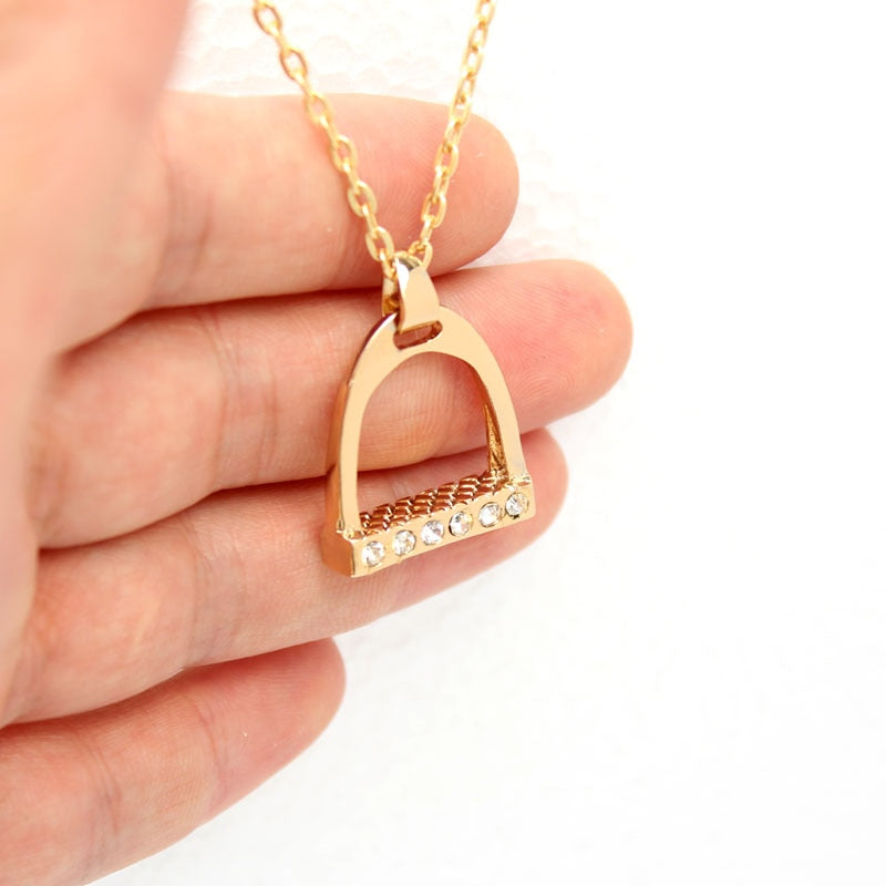 Stirrup Pendant Necklace