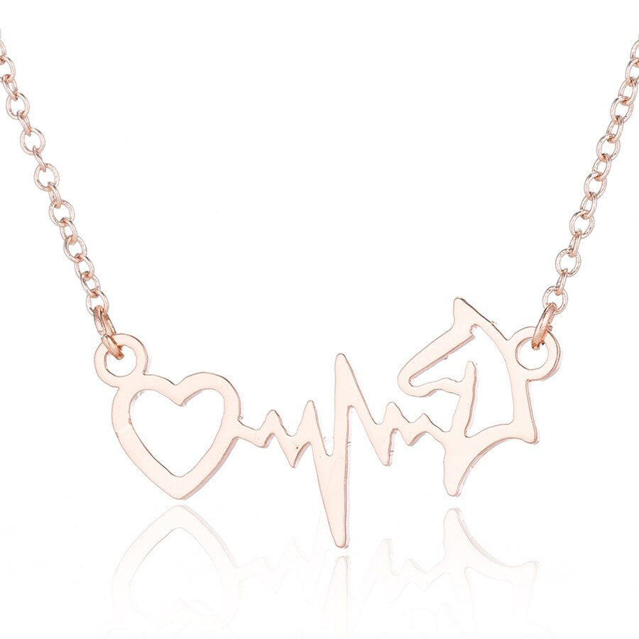 Heartbeat Horse Head Necklaces