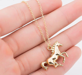 Cool Vintage Horse Necklace