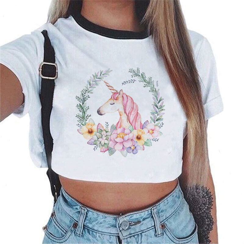 Super Cute Horse Crop Top