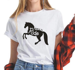 Born To Ride Horse Women Tshirt