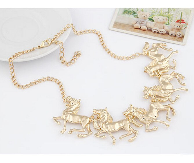 Horse Parade Necklace