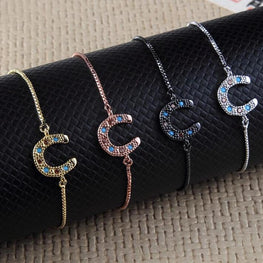 Crystal Lucky Horseshoe Bracelets