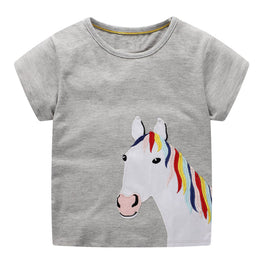 Girls Cartoon Horses Tees