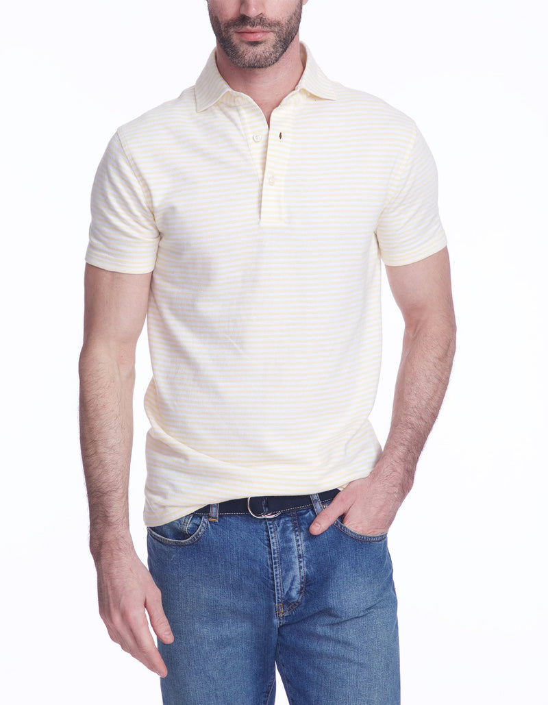 SUPIMA COTTON OXFORD STRIPE POLO